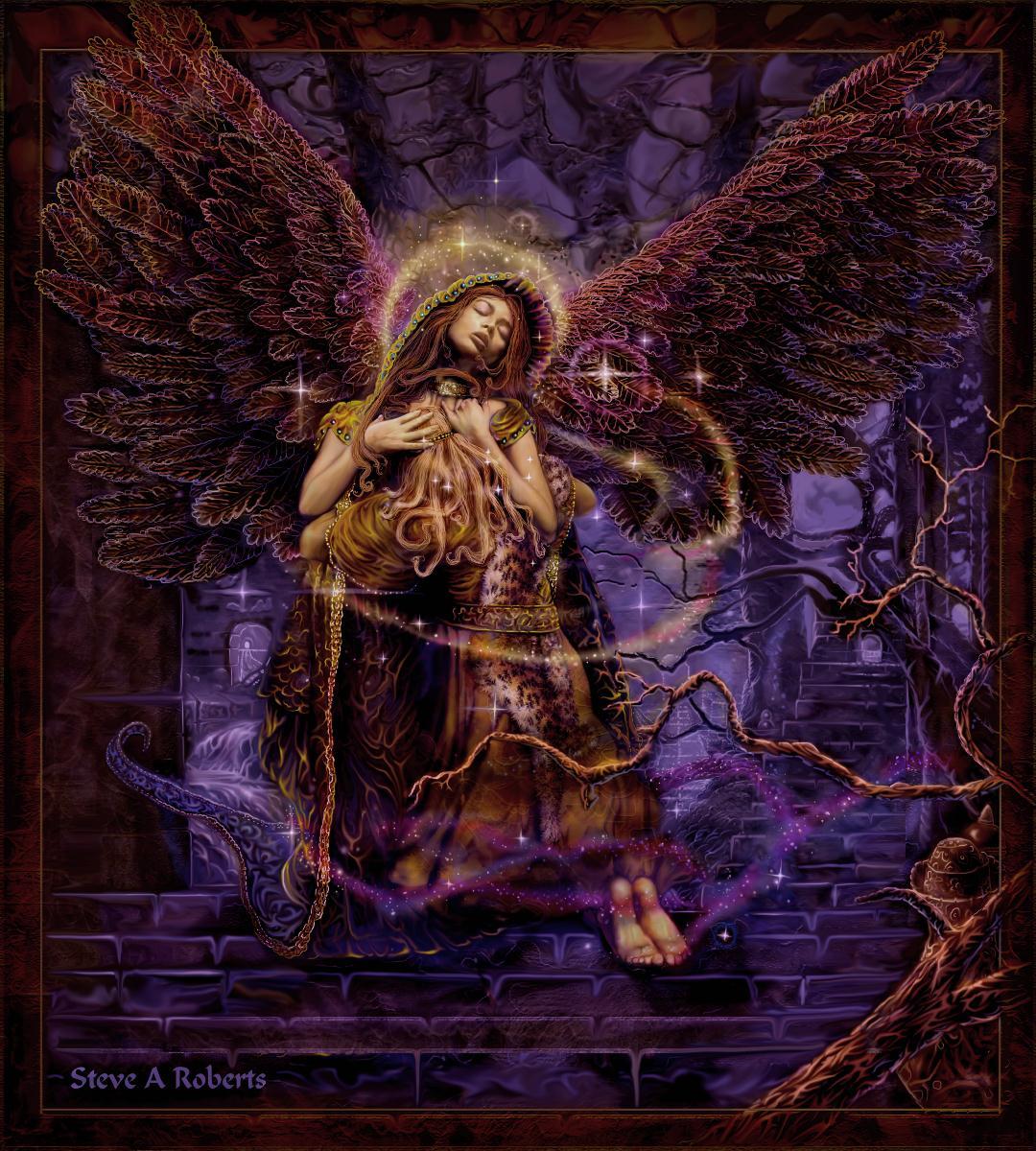 Image result for the Art of Steve A Roberts archangel zadkiel