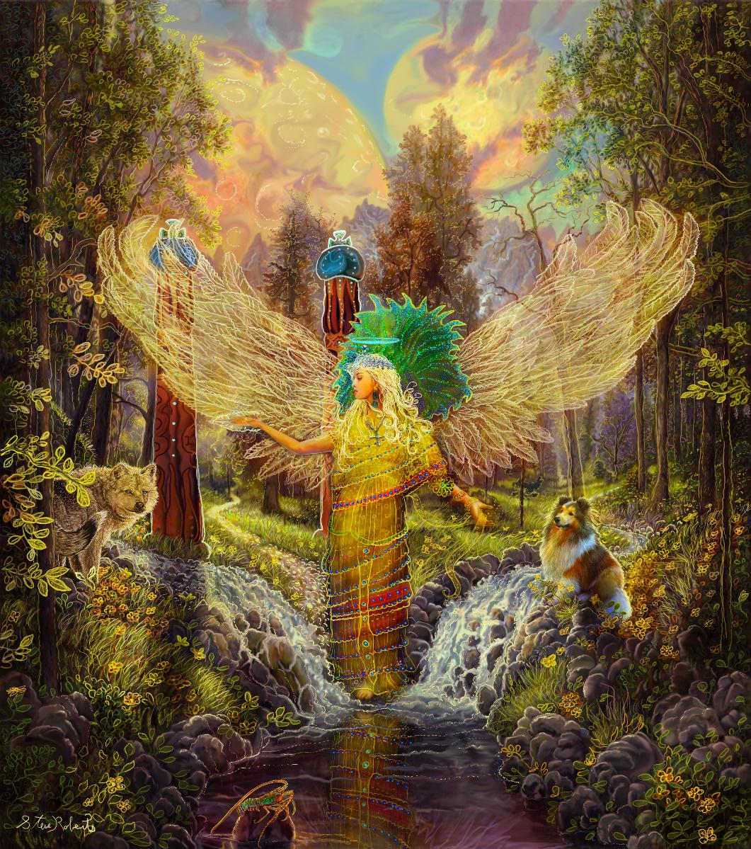Image result for the Art of Steve A Roberts archangel haniel