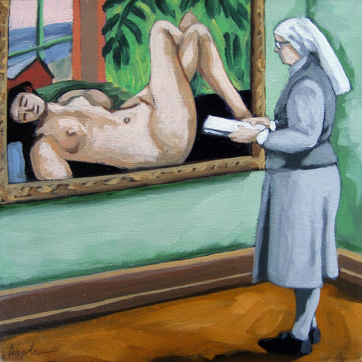 Classic nude painting by linda apple gotartwork kristyandbryce Images