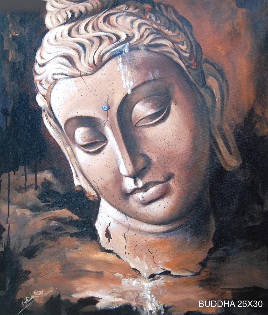Buddha Painting By Dipak Roy
