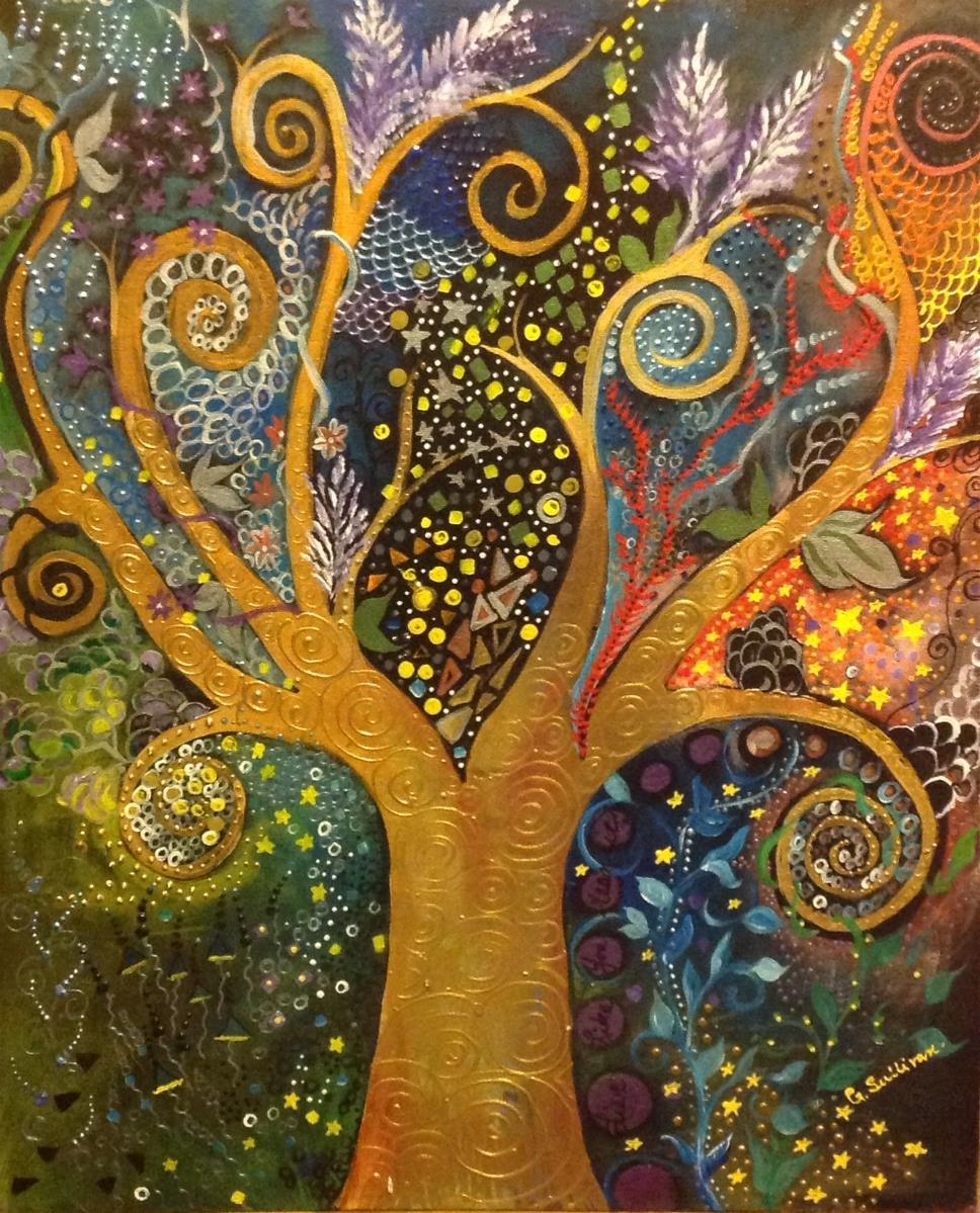 A tree of life with spirals painting by gail sullivan gotartwork kristyandbryce Gallery